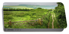 English Country Landscape 2 Portable Battery Charger