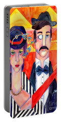 English Couple Portable Battery Charger