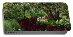 Portable Battery Charger featuring the photograph English Garden by Joanne Smoley