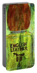 Portable Battery Charger featuring the painting English Leather by P J Lewis