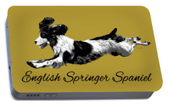 Portable Battery Charger featuring the digital art English Springer Spaniel by Ann Lauwers