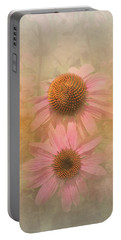 Portable Battery Charger featuring the photograph Enhanced Conehead Daisy by Arlene Carmel