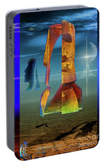 Portable Battery Charger featuring the digital art Enigma by Shadowlea Is