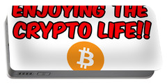 Enjoy The Crypto Life #3 Portable Battery Charger