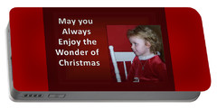 Portable Battery Charger featuring the digital art Enjoy The Wonder Of Christmas by Sonya Nancy Capling-Bacle
