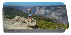 Enjoying At Yosemite Summit Portable Battery Charger