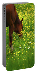 Portable Battery Charger featuring the photograph Enjoying The Wildflowers by Karol Livote