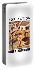 Enlist In The Air Service Portable Battery Charger by War Is Hell Store