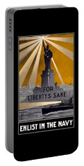 Enlist In The Navy - For Liberty's Sake Portable Battery Charger