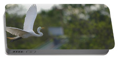 Enter The Great Egret 4 Digitalart Portable Battery Charger