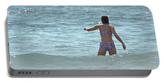 Entering Waves Of Pacific Ocean Portable Battery Charger