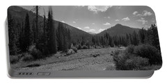 Entering Yellowstone National Park Bw Portable Battery Charger