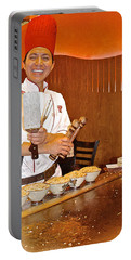 Entertaining Chef At Benihana In Monterey-california Portable Battery Charger