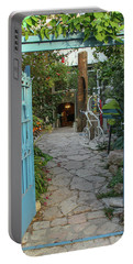 Portable Battery Charger featuring the photograph Entrance Door To The Artist by Yoel Koskas