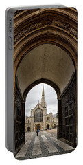 Entrance To Norwich Cathedral  Portable Battery Charger by Shirley Mitchell