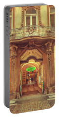 Portable Battery Charger featuring the photograph Entrance To Passage. Series Golden Prague by Jenny Rainbow