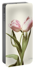 Entwined Tulips Portable Battery Charger by Jeannie Rhode