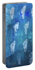 Portable Battery Charger featuring the painting Eolith II by Robin Maria Pedrero