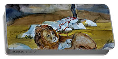Portable Battery Charger featuring the painting Ephesians 2 13 by Mindy Newman