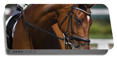 Portable Battery Charger featuring the photograph Equestrian At Work D4913 by Wes and Dotty Weber
