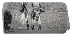 Equestrian Graceful Gray Portable Battery Charger