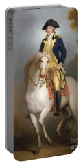 Equestrian Portrait Of George Washington Portable Battery Charger