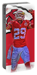 Eric Berry Kansas City Chiefs Oil Art Portable Battery Charger