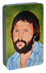 Eric Clapton Portable Battery Charger by Neil Feigeles