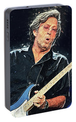 Eric Clapton Portable Battery Charger by Taylan Apukovska
