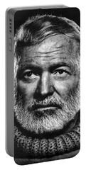 Ernest Hemingway Portable Battery Charger