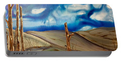 Portable Battery Charger featuring the painting Escape by Pat Purdy