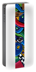 Colorful Abstract Art Painting, Modern Art Brown Eye Art Paintings Portable Battery Charger