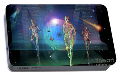 Portable Battery Charger featuring the digital art Escaping The  Matrix by Shadowlea Is