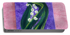 Escaping Winter Lilly Of The Valley Portable Battery Charger
