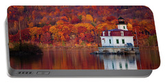 Esopus Lighthouse In Late Fall #1 Portable Battery Charger by Jeff Severson