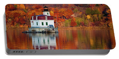 Esopus Lighthouse In Late Fall #2 Portable Battery Charger
