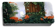Portable Battery Charger featuring the painting Espana by Lynne Reichhart