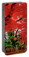 Essence Of Japanese Maple Tree Portable Battery Charger by Carol F Austin