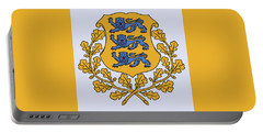 Portable Battery Charger featuring the drawing Estonia Coat Of Arms by Movie Poster Prints
