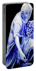 Flower Girl In Blue Portable Battery Charger