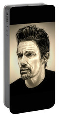 Ethan Hawke Portable Battery Charger by Fred Larucci