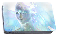 Portable Battery Charger featuring the digital art Ethereal Spirit by Shadowlea Is