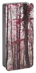 Ethereal Austrian Forest In Marsala Burgundy Wine Portable Battery Charger