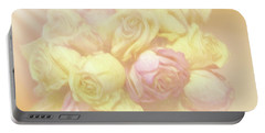 Ethereal Rose Bouquet Portable Battery Charger by Linda Phelps