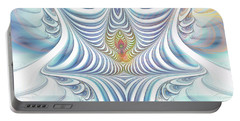 Portable Battery Charger featuring the digital art Ethereal Treasure by Jutta Maria Pusl