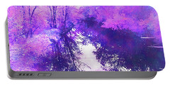 Ethereal Water Color Blossom Portable Battery Charger