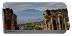 Etna From The Greek Theater Portable Battery Charger