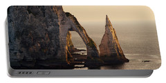 Etretat In Morning Sun Portable Battery Charger