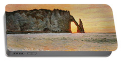 Etretat, Sunset  Portable Battery Charger