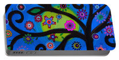 Portable Battery Charger featuring the painting Etz Chayim by Pristine Cartera Turkus